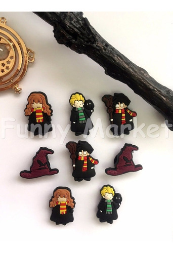 Harry Potter Pines Adornos Para Zapatos 8 Unid. X 15 Soles