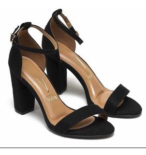 Sandalia Vizzano De Cuero Color Negro. Talle Num 40