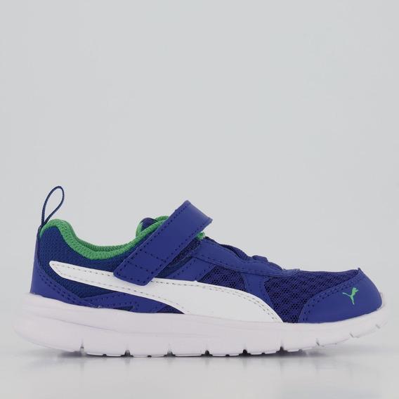 Tênis Puma Flex Essential V Infantil Azul