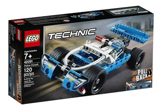 Lego Technic 42091 Auto Vehiculo Policia Pullback Mundomania