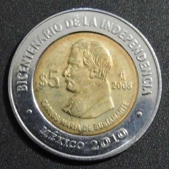 Mexico 5 Pesos - Carlos María De Bustamante - Bicentenario
