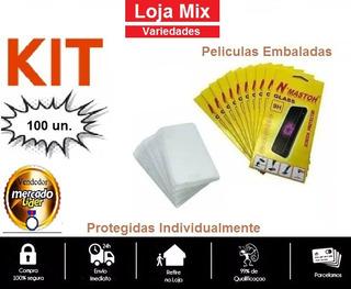 Lote Kit 100 Pelicula De Vidro No Atacado Varios Modelos