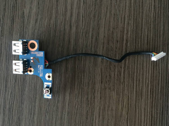 Botão Power + Placa Usb + Cabo Samsung Np270e4e