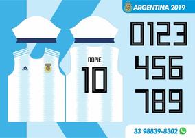 Camisa Argentina 2019/20 Vetor Para Sublimação