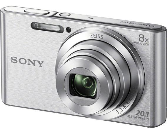 Câmera Cyber-shot Dsc-w830 20.1 Mp Zoom 8x Hd Prata Sony