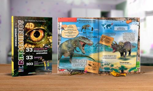 Imagen 1 de 8 de Enciclopedia De Los Dinosaurios En 4d (realidad Aumentada)
