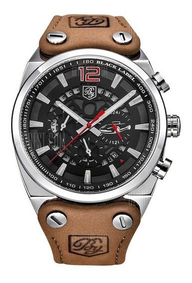 Relógio Masculino Benyar 5112 Couro Legítimo 100% Original