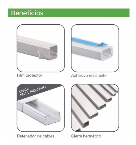 Cable Canal Plastico 20x12 Schneider Adhesivo 2 Metros