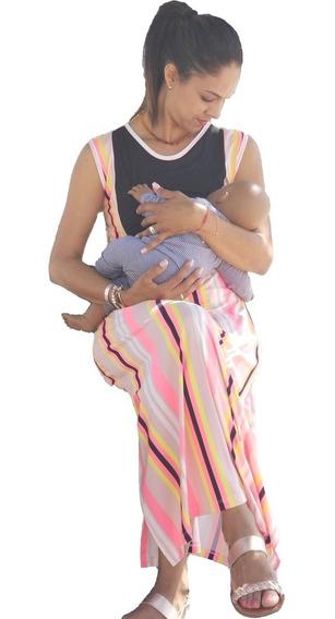 Vestido De Lactancia Y Embarazo Ropa Maternidad -ohanna