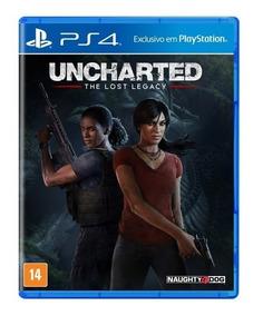Uncharted 4 The Lost Legacy Original Lacrado Mídia Física