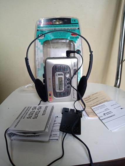 Walkman Aiwa Tx476 Novo Sem Uso