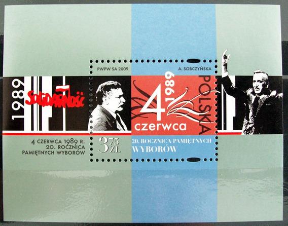 Polonia, Bloque Año 2009 20 Aniv Elección Mint L6017