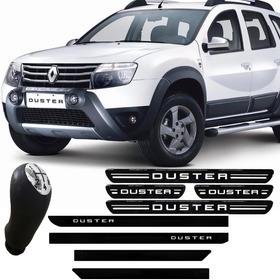 Kit Duster Manopla Bola Cambio Soleira Porta Friso Lateral