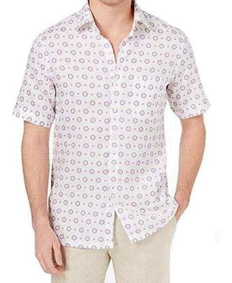 Camisa Caballero Tasso Elba Island Lino Estampado Lunares