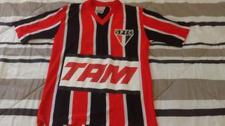 Camisa São Paulo 1991 - Infantil - Listrada - Tam. 14