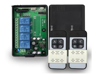 Ac220v Módulo De Interruptor Sem Fio De 4 Canais & 4 Botões