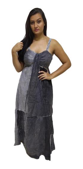 Vestido Longo Alça Tie Dye Indiano 1517