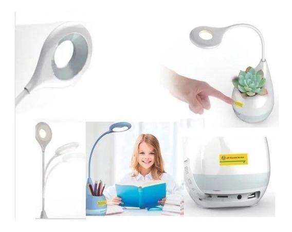 Caixa De Som Bluetooth Led Porta Lápis Fm Speaker H