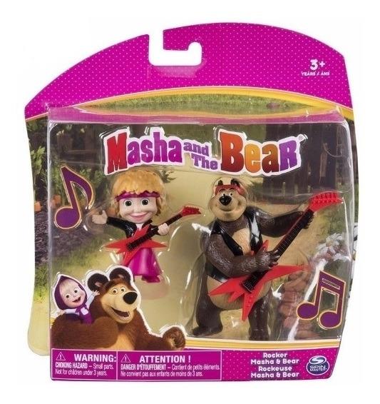 Masha E O Urso Pack Com 2 Figuras Roqueiro Sunny 1473