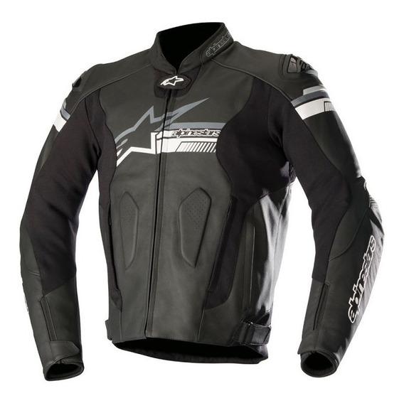 Chamarra Para Moto Alpinestars Racing Fuji Negro Piel