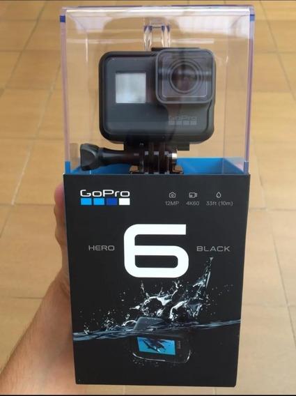 Gopro 6 Black+ 64gb + Carregador P/ 2 Baterias + Bateria Re