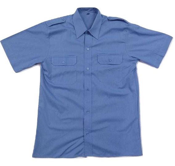 Camisa Manga Corta Con Charretera - La Plata