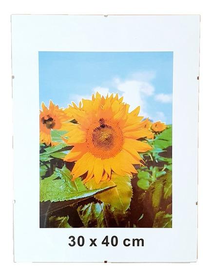 Portarretrato Clip 30x40 De Vidrio Sin Marco Para Colgar