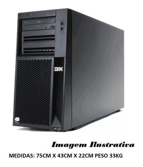 Servidor Ibm X3400 Torre Xeon Quadcore 8gb 1 Tera