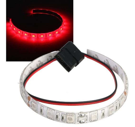 Fita Led Pc Gabinete Gamer 50cm Vermelha Conector Molex