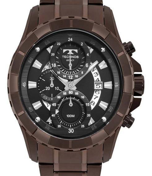 Relógio Technos Masculino Chocolate Js15fn/4p Cronógrafo Cnf