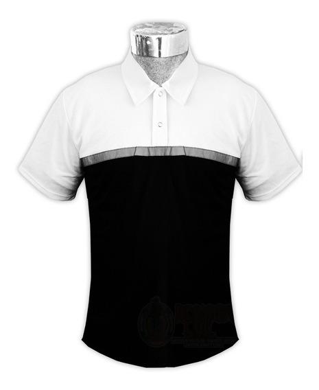 Playera Camisa Polo V Con Reflejante Transito Seguridad