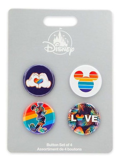 Disney Mickey Mouse 4 Pin Rainbow Disney Store