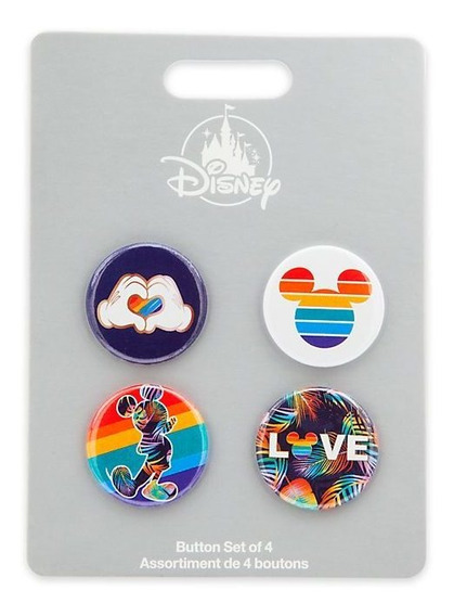 Disney Mickey Mouse 4 Pin Rainbow Disney Store
