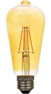Foco Tipo Flama Filamento Led 60w Retro Vintage Sylvania