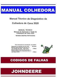 Manual Técnico Diagnóstico Colhedora John Deere Codigo Falha
