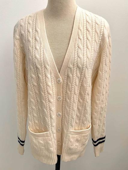 Sweater Suéter Cardigan Ralph Lauren 100% Cashmere