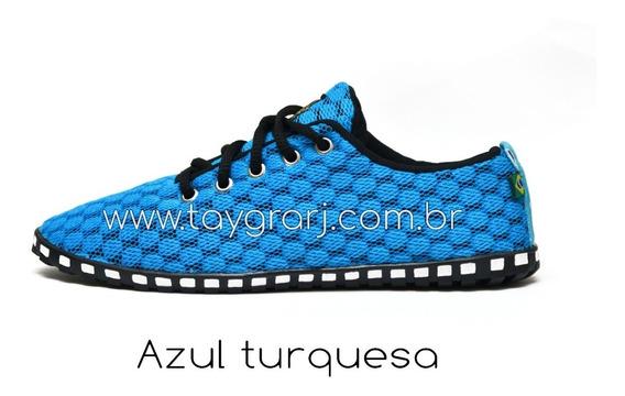 Tênis Taygra Comfort Azul Turquesa