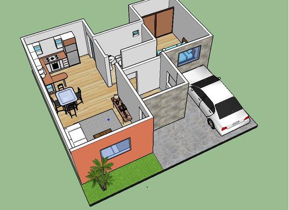 Plano De Casa 2 Rec. Para Terreno 10x10 Listo Para Construir