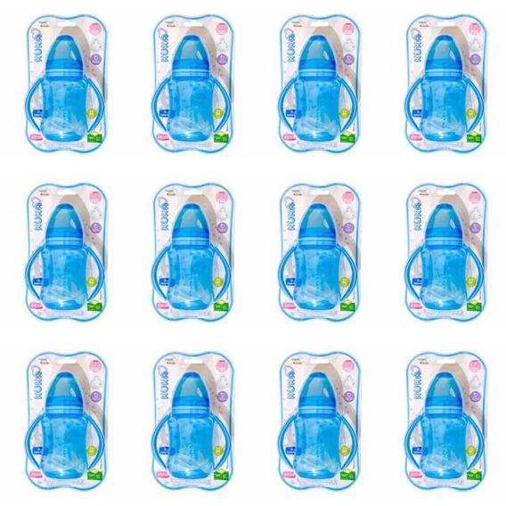Kuka 1406 Mamadeira Aquarela Big Alça Azul 240ml (kit C/12)