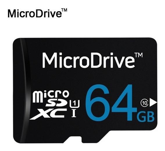 Micro Sd Card 64gb + Leitor Adaptador + Capa De Cartão