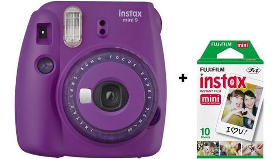 Câmera Instantânea Fujifilm Instax Mini 9 - Roxo Açai