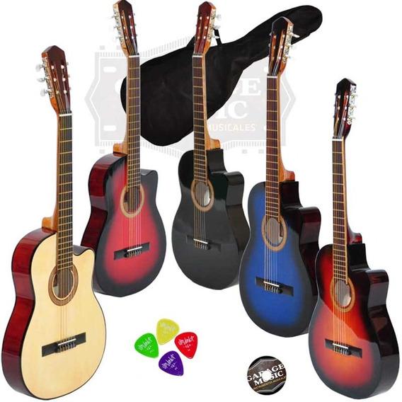 Guitarra Electro Criolla Acustica Media Caja Cuerdas Nylon