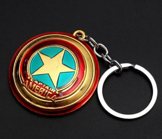 Llavero Capitan America Escudo Avengers Metal Vengadores