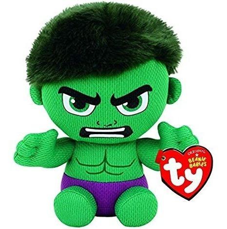 Pelúcia Ty Beanie Babies Original Marvel Hulk