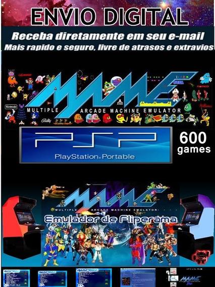Emulador Mame Psp 600 Games Completos