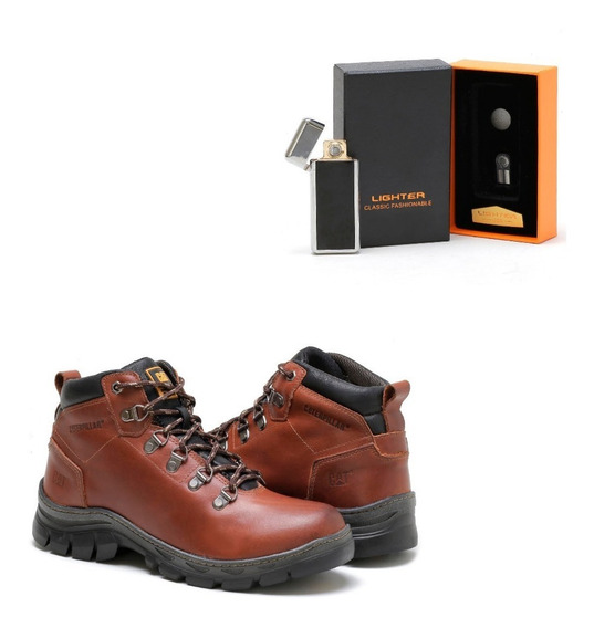 Kit Bota Caterpillar Masculina Adventure Com Palmilha Gel!