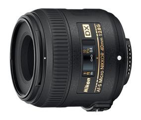 Lente Af-s Dx Micro Nikkor 40 Mm F / 2.8g