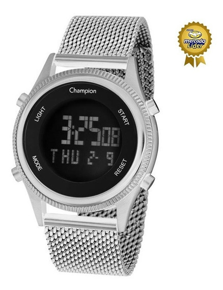Relógio Champion Feminino Ch48082t Digital Prateado