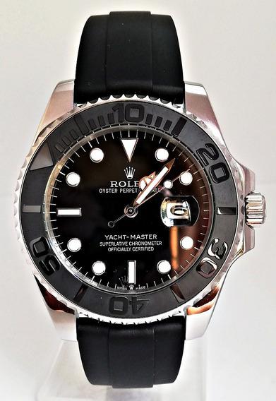 Reloj Rolex Yacht Master Acero Negro Caucho Automatico
