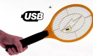 Raqueta Mata Moscas Mosquito Electrica Recargable Usb